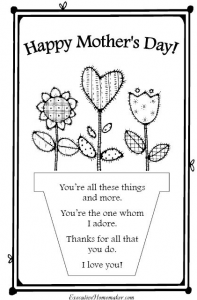 Mothers day card templates early play templates maxwellsz